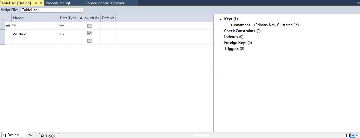 SQL71501 designer